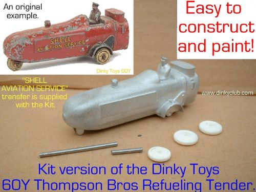 A DINKY TOYS COPY MODEL 60Y CITERNE AVIATION SHELL AVIATION SERVICES [ IN KIT FORM ]